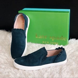 ✨New KATE SPADE Lilly Suede Ruffle Slip On Sneaker